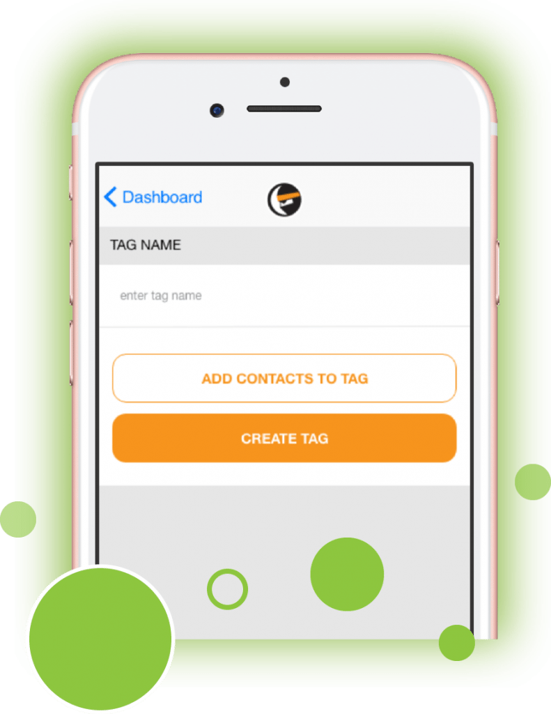 Create Tag - Mobile iPhone